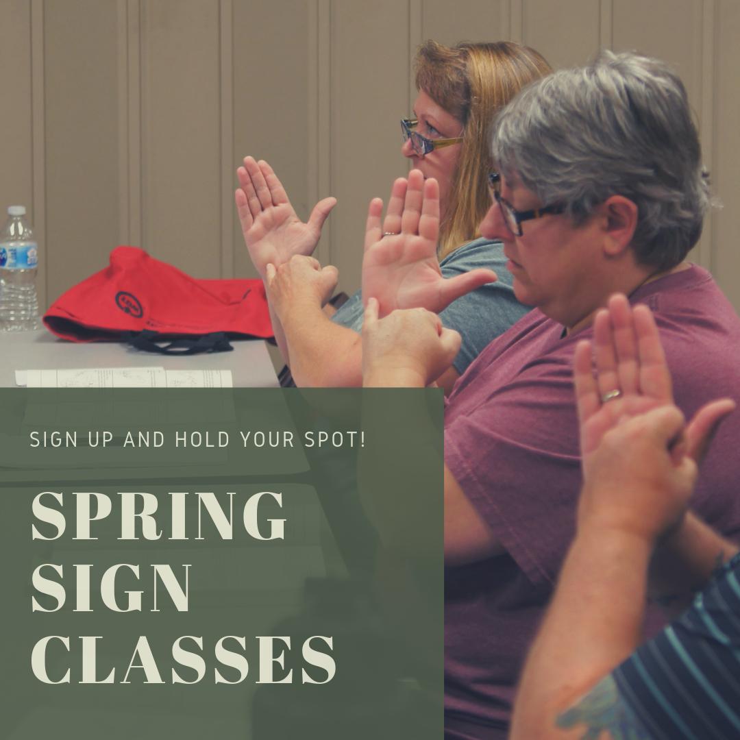 Spring Sign Class Enrollment